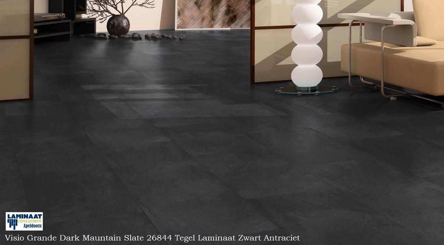 Visio grande dark mountain slate 26844 zwart tegel laminaat