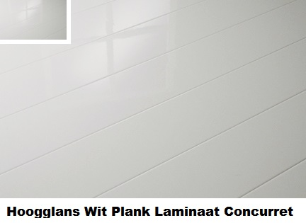 Elesgo hoogglans laminaat wit plank 772316 laminaat concurrent