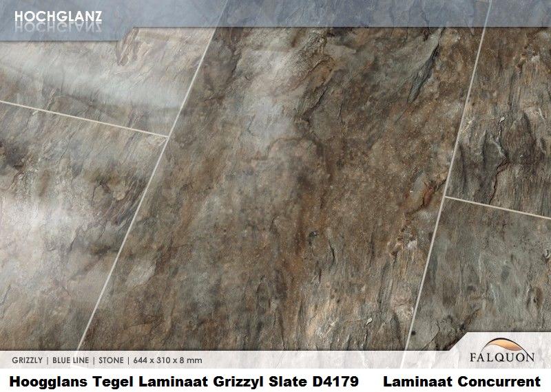 Laminaat Tegels Bruin : Hoogglans grizzyl slate d tegel laminaat