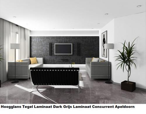 hoogglans tegel laminaat Dark D 2909 1