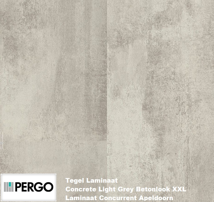 Pergo concrete light grey 70209 0463 tegel laminaat laminaat concurrent for Tegel pvc imitatie tegel cement