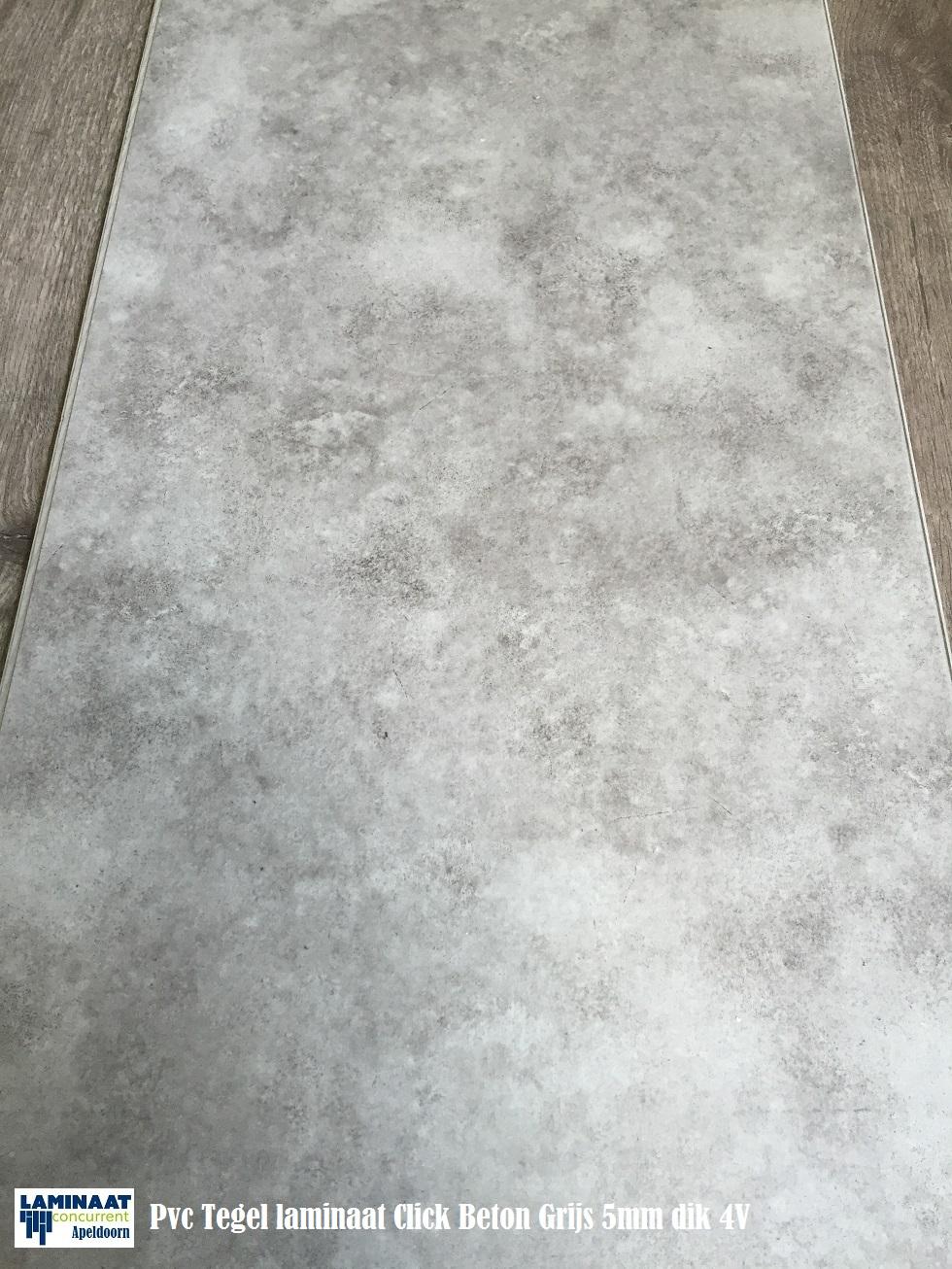 Pvc beton grijs 1 laminaat concurrent for Tegel pvc imitatie tegel cement