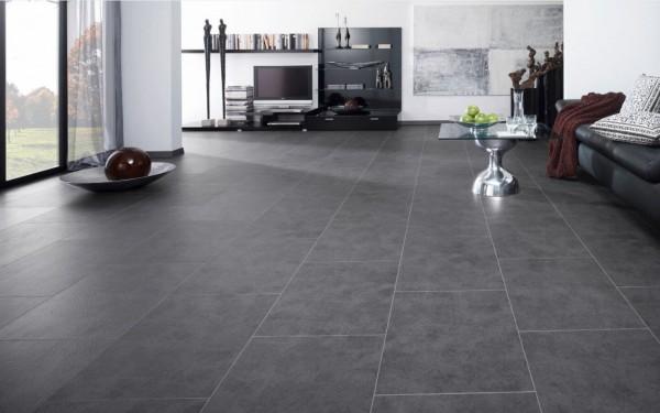 Pvc tegel laminaat zwart antraciet met hdf 10 5mm dik laminaat concurrent - Vloeren vinyl cement tegel ...