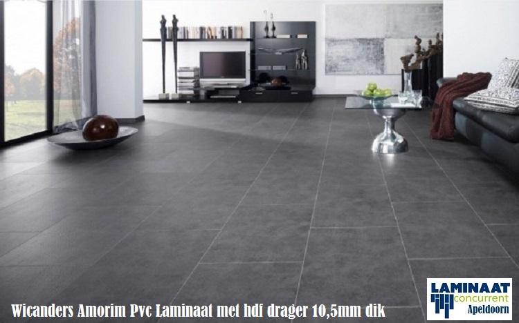 Pvc tegel laminaat natural stone black ljv5003 met hdf 10 5mm dik