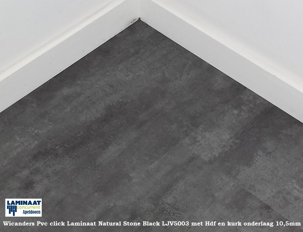 Pvc tegel laminaat natural stone black ljv5003 met hdf 10 for Tegel laminaat aanbieding