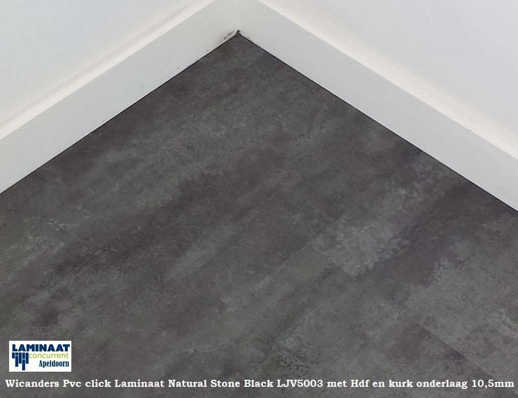 Pvc tegel laminaat natural stone black ljv met hdf mm dik