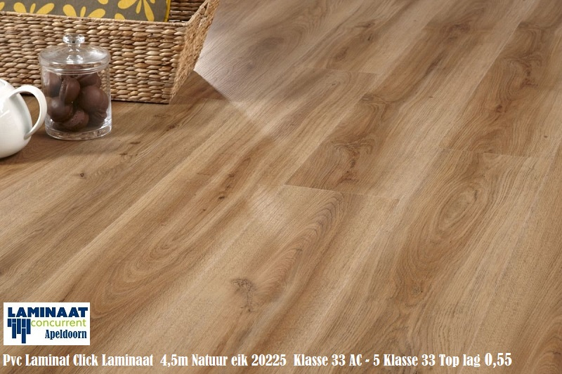 Pvc click vinyl laminaat 20225 brezilian walnoot 4 5mm dik bruin grijs