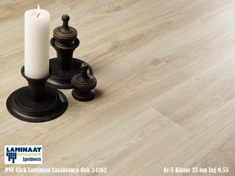 Pvc click vinyl laminaat 24262 casablanca oak 4 5mm dik bruin
