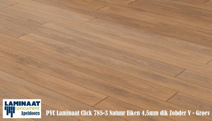 Kunstof Laminaat Vloeren : Pvc click vinyl laminaat natuur eiken mm dik