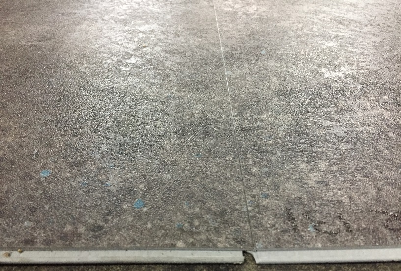 Tarkett pvc click tegel laminaat terrazzo antracite 24266131 for Tegel pvc imitatie tegel cement