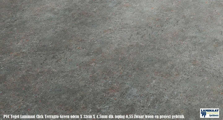 Tarkett pvc click tegel laminaat terrazzo green