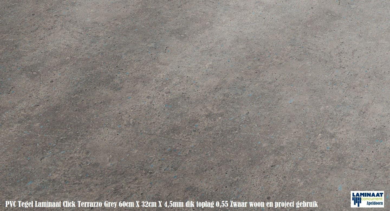 Tarkett pvc click tegel laminaat terrazzo grey