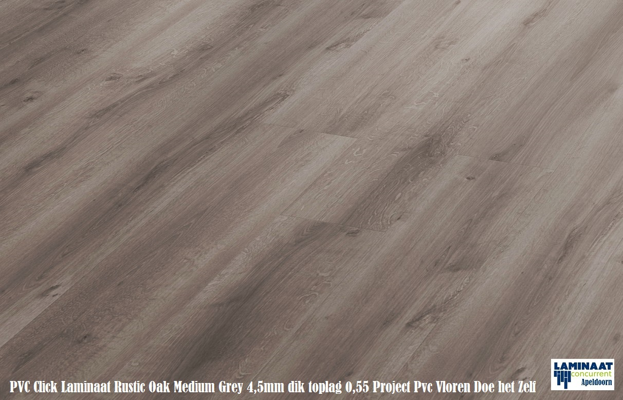 Tarkett pvc click vinyl laminaat rustic oak medium grey