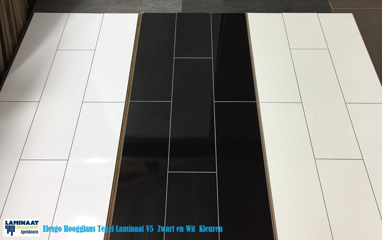Relativ Hoogglans Tegel Laminaat Zwart 771015 Wellness floor V5 ZJ99