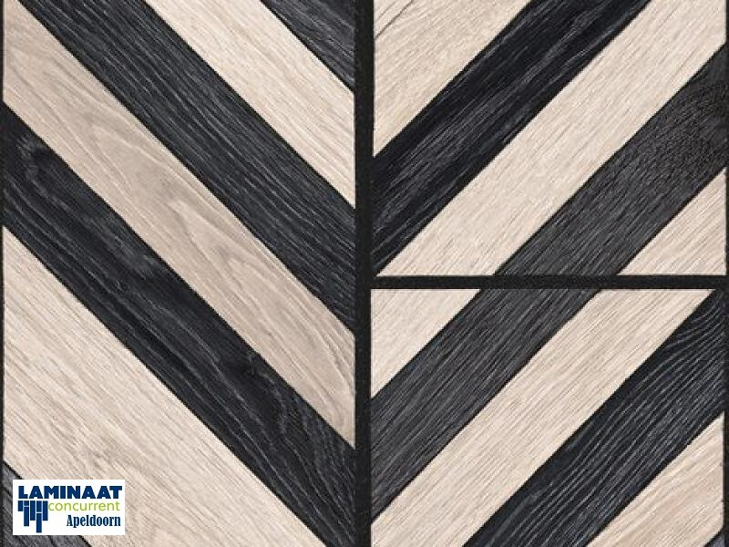 Balterio piano black wit visgraat laminaat mm dik met v groev