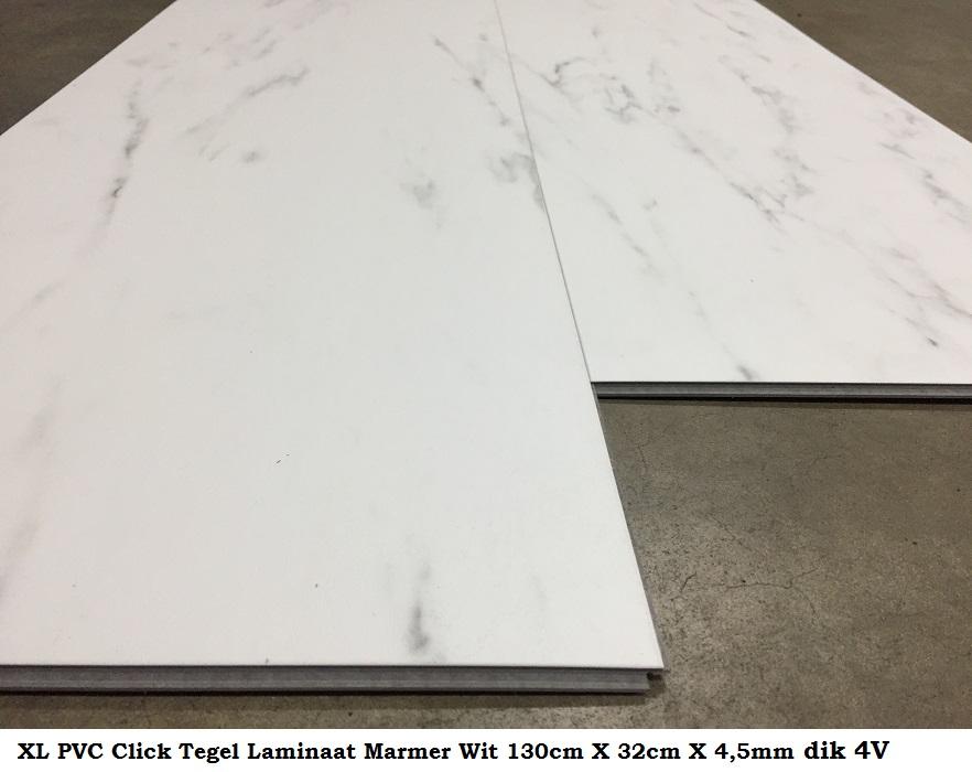Xl pvc click tegel laminaat marmer wit cm lang cm brede