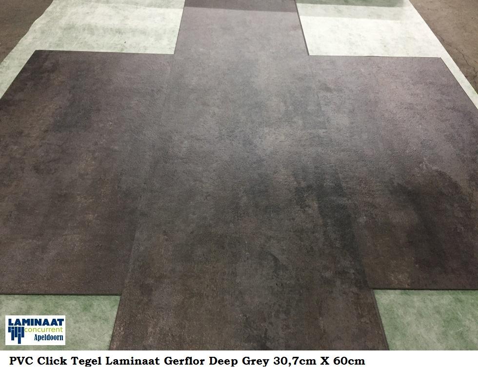 Pvc click tegel laminaat deep grey metallic grijs cm cm