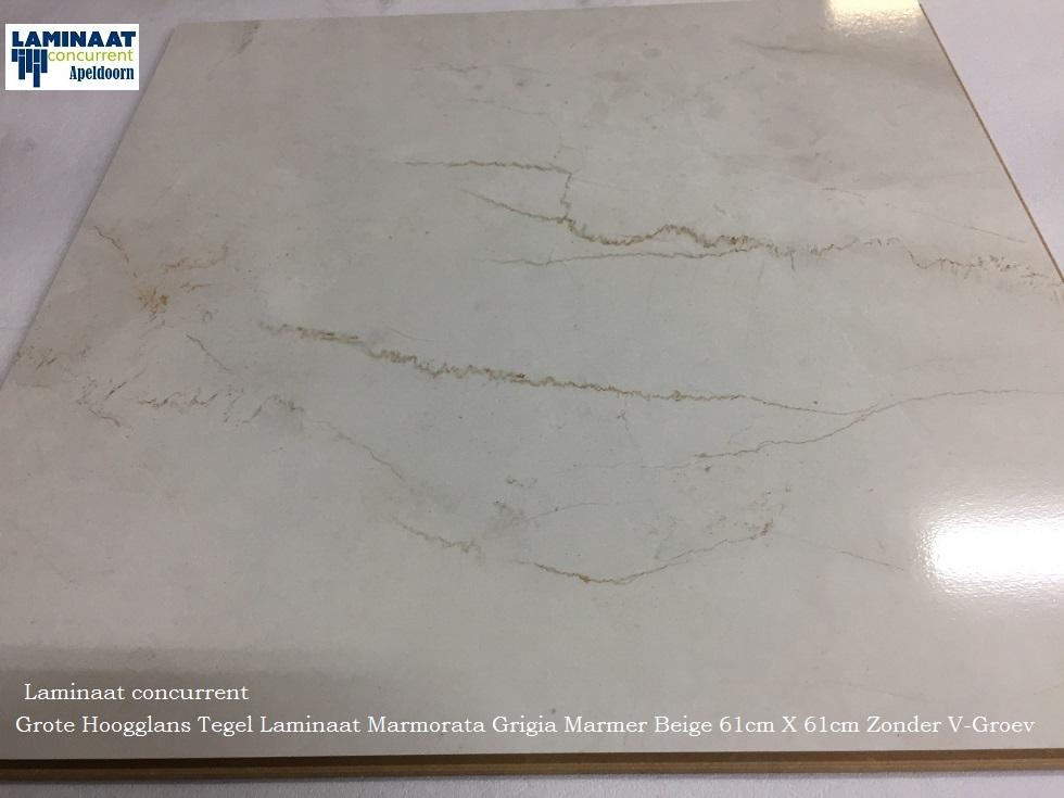 Grote hoogglans tegel laminaat marmer wit beige marmorata q
