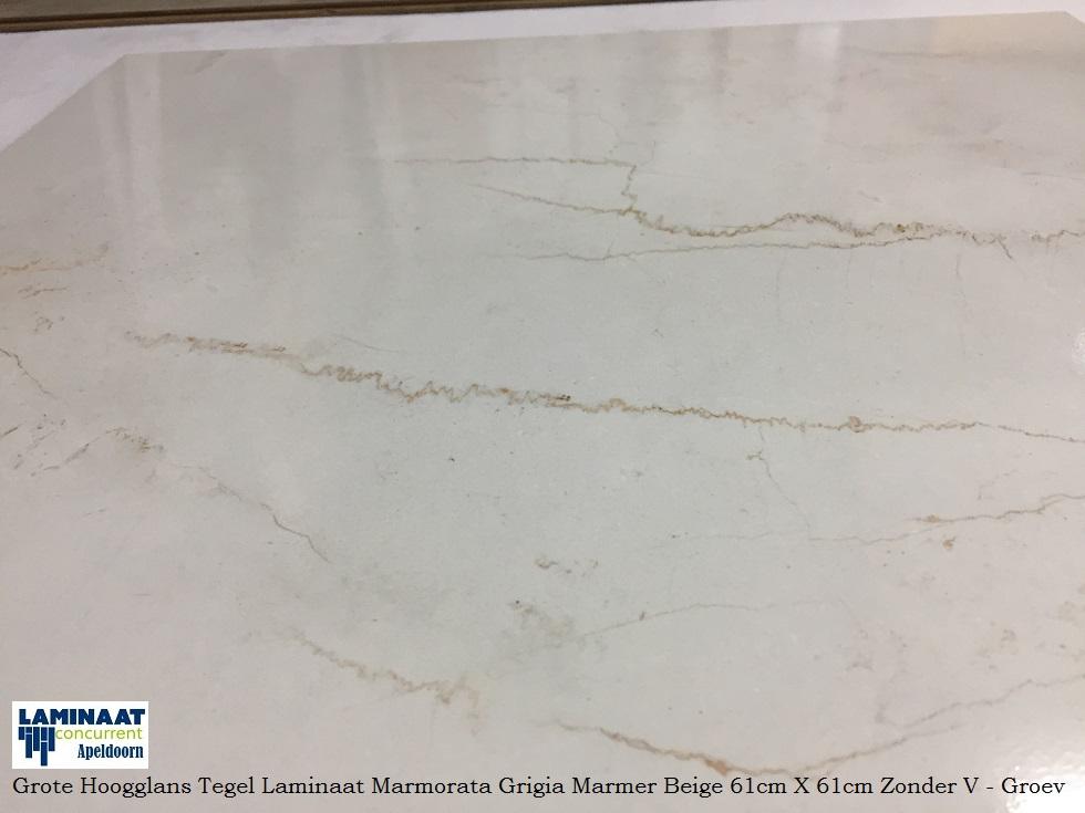 Tegel Laminaat Marmer : Grote hoogglans tegel laminaat marmer wit beige marmorata q