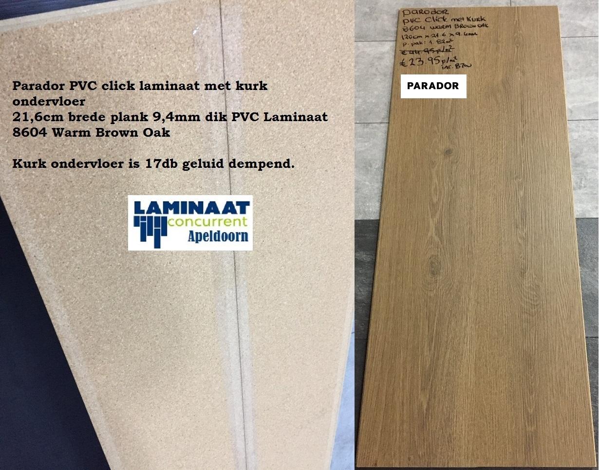 Parador pvc click laminaat met hdf warm brown oak mm dik