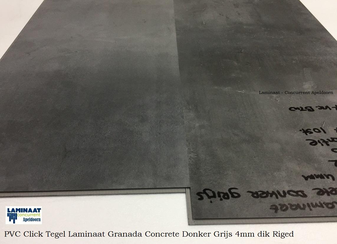 Laminaat Tegels Aanbieding : Pvc click tegel laminaat concrete donker grijs granada laminaat