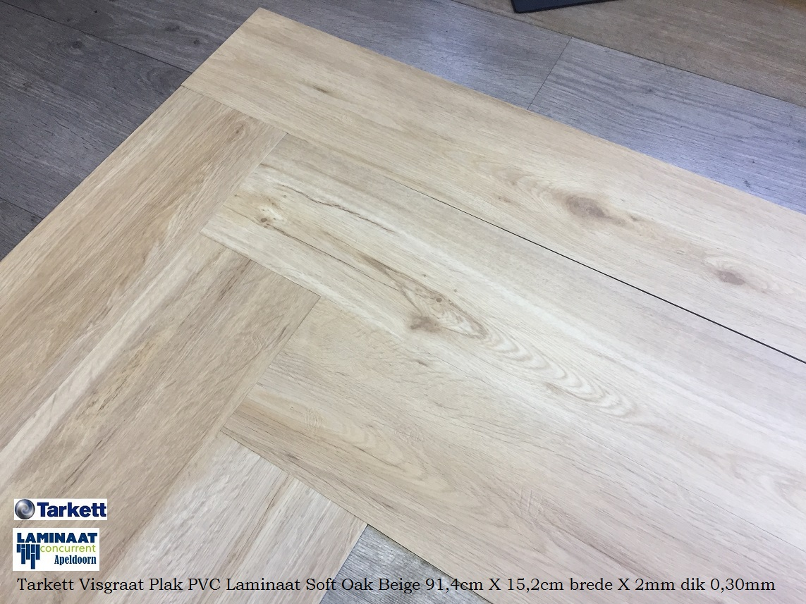 Visgraat plak pvc laminaat soft oak beige laminaat concurrent