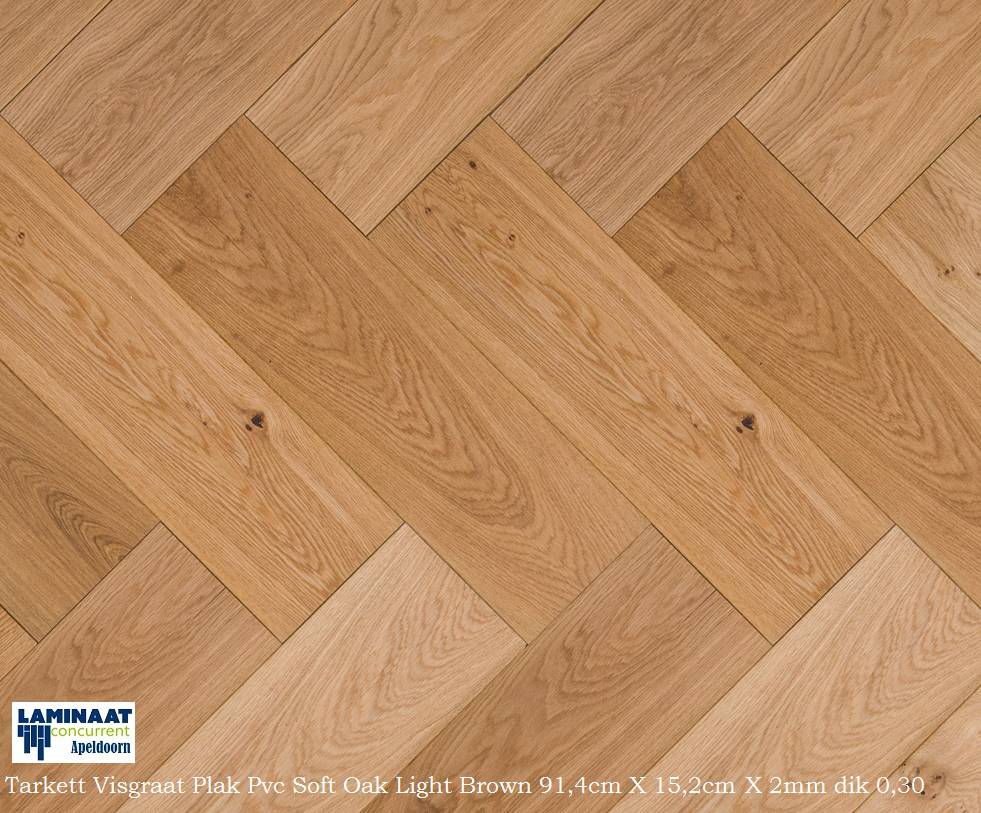 Visgraat Plak Pvc Laminaat Soft Oak Light Brown Laminaat