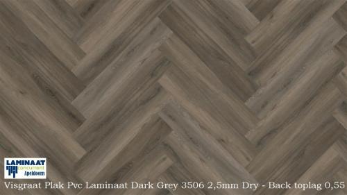 Visgraat plak pvc laminaat dark oak naturel laminaat concurrent