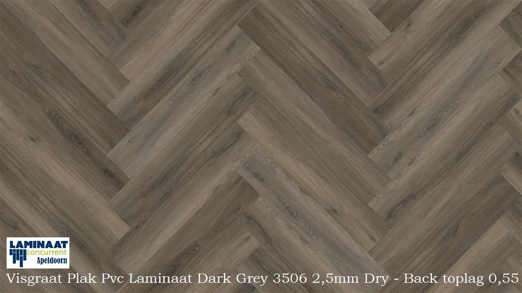 Visgraat plak pvc laminaat dark grey laminaat concurrent