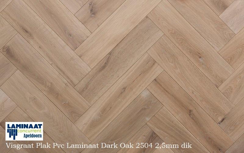 Visgraat plak pvc laminaat dark oak 2504 naturel laminaat concurrent
