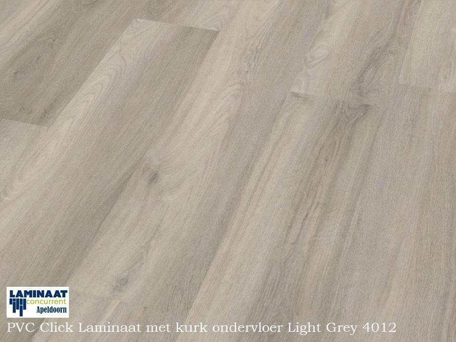 Pvc click laminaat met ondervloer light grey laminaat