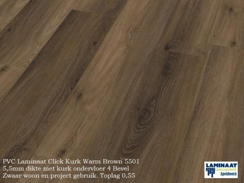 pvc click kurk Warm Brown 5501 1