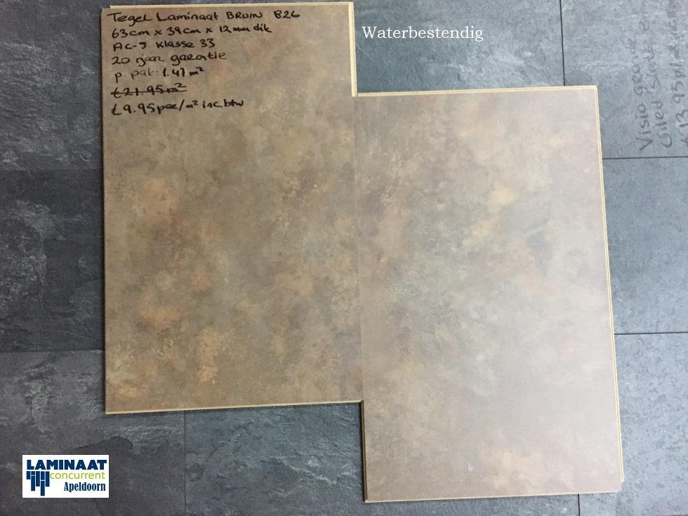 Laminaat Tegels Bruin : Aqua stop tegel laminaat bruin amber mm dik laminaat concurrent