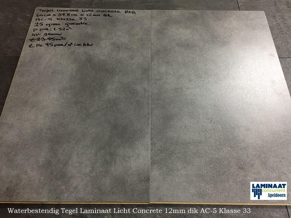 Aqua stop tegel laminaat light concrete 12mm laminaat concurrent