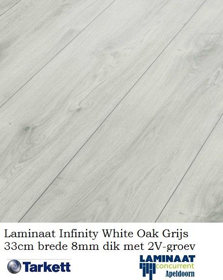 6b296eee573 Tarkett Infinity White Oak Grijs 33cm brede laminaat. Aanbieding! ; 