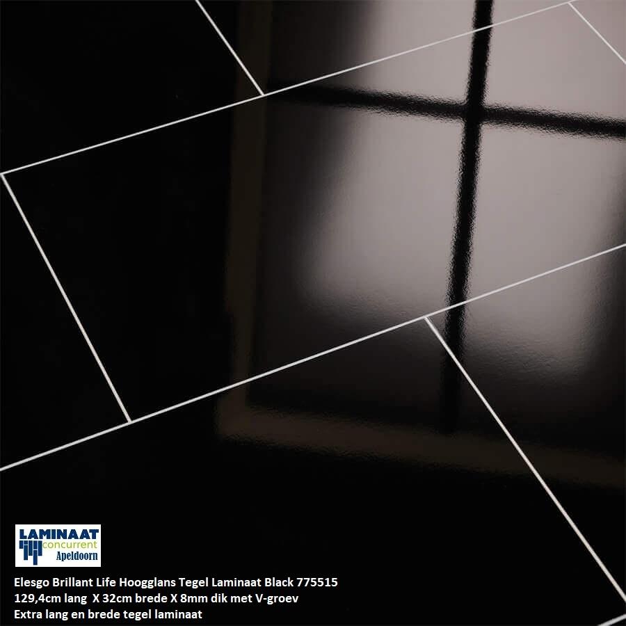 Hoogglans laminaat zwart Color Black 775515 1