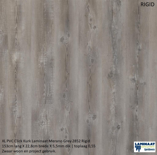 pvc click kurk klik Merano Grey 2852 0-0