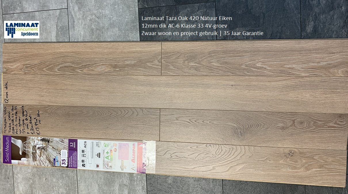12mm dik laminaat Taza Oak 420 7
